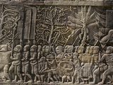 Detail of Bas Relief, Angkor Wat Archaeological Park, Siem Reap Photographic Print by Julio Etchart