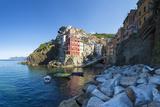 Clifftop Village of Riomaggiore, Cinque Terre, UNESCO World Heritage Site, Liguria, Italy, Europe Photographic Print by Gavin Hellier