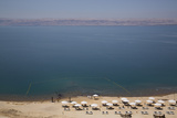 Beach Swimming Area, Crown Plaza Dead Sea Hotel, Dead Sea, Jordan, Middle East Photographic Print by Richard Maschmeyer