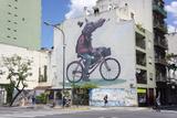 Fun Graffiti, San Telmo, Buenos Aires, Argentina Fotografisk tryk af Peter Groenendijk