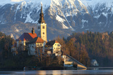 The Assumption of Mary Pilgrimage Church on Lake Bled, Bled, Slovenia, Europe Photographic Print by Miles Ertman