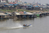 View of Life Along the Tonle Sap River Headed Towards Phnom Penh, Cambodia, Indochina Photographic Print by Michael Nolan