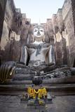 A Giant Sukhothai Era Sitting Buddha, Wat Si Chum, Sukhothai Historical Park, Thailand Photographic Print by Alex Robinson