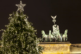 The Brandenburg Gate and Christmas Tree, Berlin, Germany, Europe Photographic Print by Miles Ertman