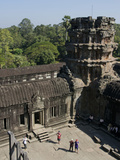 Tourists at the Angkor Wat Archaeological Park, Siem Reap, Cambodia, Indochina, Southeast Asia Photographic Print by Julio Etchart