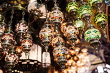 Mosaic Glass Turkish Lights on Display, Grand Bazaar (Kapali Carsi), Istanbul, Turkey Photographic Print by Ben Pipe
