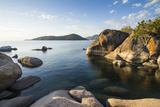 Otter Point at Sunset, Lake Malawi National Park, Cape Maclear, Malawi, Africa Fotografisk tryk af Michael Runkel