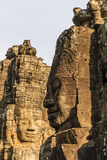 Four-Faced Towers in Prasat Bayon, Angkor Thom, Angkor, Siem Reap, Cambodia Photographic Print by Michael Nolan