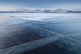 A Frozen Lake, So Clear its Possible to See Through the Ice, Near Absiko, Sweden Photographic Print by David Clapp