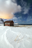 House Surrounded by Snow in a Cold Winter Day Photographic Print by Roberto Moiola