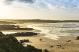 Sunrise at Gwithian Beach, Cornwall, England, United Kingdom Photographic Print by Mark Chivers