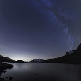 Milky Way over Rossett Lake at an Altitude of 2709 Meters Reproduction photographique par Roberto Moiola