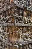 Apsara Carvings in the Leper King Terrace in Angkor Thom, Angkor, Cambodia Photographic Print by Michael Nolan