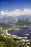 View of Rio, the Serra Da Carioca Mountains and Sugar Loaf Photographic Print by Alex Robinson