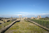 The Main View of the Quintili's Villa Built in the 2nd Century BC on the Appian Way Fotografisk tryk af Oliviero Olivieri