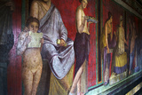 The Baccantis in the Triclinium in the Villa Dei Misteri, Pompeii, Campania, Italy Fotografisk tryk af Oliviero Olivieri