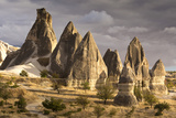 Unusual Rock Formations in the Rose Valley, Cappadocia, Anatolia, Turkey, Asia Minor, Eurasia Photographic Print by David Clapp