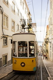 Tram in Elevador Da Bica, Lisbon, Portugal Photographic Print by Ben Pipe