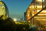 Night Capture of Ultra Modern Architecture in Jianggan Photographic Print by Andreas Brandl