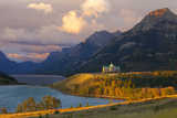 The Prince of Wales Hotel at Sunrise, Waterton Lakes National Park, Alberta, Canada, North America Photographic Print by Miles Ertman