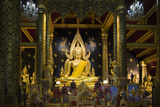 The Sacred Phra Buddha Chinnarat Buddha in the Temple of Wat Phra Si Rattana Mahathat Woramahawihan Photographic Print by Alex Robinson
