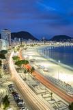 Copacabana Beach at Night, Rio De Janeiro, Brazil Photographic Print by Alex Robinson