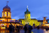 Christmas Market in Front of Charlottenburg Palace, Berlin, Germany, Europe Photographic Print by Miles Ertman