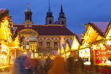 Christmas Market in the Altermarkt with the Baroque Town Hall in the Background Photographic Print by Miles Ertman