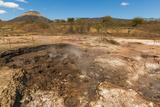 Mud Pots, Fumaroles and Dormant Volcan Santa Clara at the San Jacinto Volcanic Thermal Area Photographic Print by Rob Francis