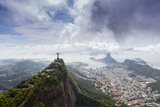 Rio De Janeiro Landscape Showing Corcovado, the Christ and the Sugar Loaf, Rio De Janeiro, Brazil Fotodruck von Alex Robinson