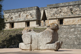 Double-Headed Jaguar, Palace of the Governor, Uxmal Photographic Print by Richard Maschmeyer