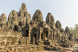 Four-Faced Towers in Prasat Bayon, Angkor Thom, Angkor, UNESCO World Heritage Site, Cambodia Photographic Print by Michael Nolan