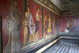 In the Triclinium, Villa Dei Misteri, Pompeii, Campania, Italy Fotografisk tryk af Oliviero Olivieri