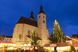 Christmas Market in Neupfarrplatz, Regensburg, Bavaria, Germany, Europe Photographic Print by Miles Ertman