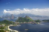 View of Rio, the Serra Da Carioca Mountains and Sugar Loaf Photographic Print by Alex Robinson
