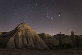 Night Time in the Rose Valley Showing the Rock Formations and Desert Landscape Light Photographic Print by David Clapp