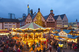 Christmas Market in Romerberg, Frankfurt, Germany, Europe Photographic Print by Miles Ertman