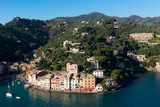 The Bay of Portofino Seen from Castello Brown, Genova (Genoa), Liguria, Italy, Europe Photographic Print by Carlo Morucchio