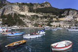 Fishing Boats in Amalfi Harbour Photographic Print by Eleanor Scriven