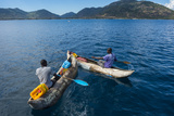 Fishermen on their Canoes Going Fishing, Cape Malcear, Lake Malawi, Malawi, Africa Photographic Print by Michael Runkel