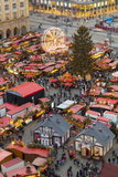 Overview of the Dresden Strietzelmarkt Christmas Market, Dresden, Saxony, Germany, Europe Photographic Print by Miles Ertman