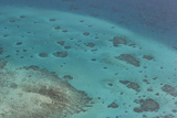 Aerial Photography of Coral Reef Formations of the Great Barrier Reef Photographic Print by Louise Murray