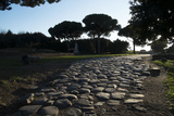 Main Decumano in the High Street, Ancient Ostia (Ostia Antica), Rome, Lazio, Italy, Europe Fotografisk tryk af Oliviero Olivieri