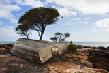 Boat on Rocks at Dunsborough Beach, Western Australia, Australia, Pacific Photographic Print by Lynn Gail