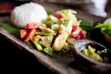 Stir-Fry Vegetables, Ubud, Bali, Indonesia, Southeast Asia, Asia Photographic Print by Lynn Gail
