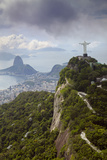 Rio De Janeiro Landscape Showing Corcovado, the Christ and the Sugar Loaf, Rio De Janeiro, Brazil Photographic Print by Alex Robinson