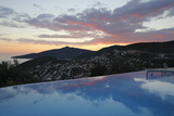 Infinity Pool at Sunset, Mediteran Hotel, Kalkan Photographic Print by Stuart Black