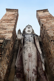 Standing Buddha, Wat Mahathat, Sukhothai Historical Park, UNESCO World Heritage Site, Thailand Photographic Print by Alex Robinson