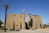 Obelisk, 25 Meters High in Front of Plyon 65 Meters Wide, Luxor Temple Photographic Print by Richard Maschmeyer
