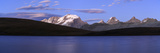 Panorama of the Gran Paradiso Range at Sunset from Lake Rossett Photographic Print by Roberto Moiola